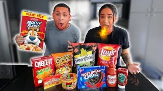 EATING ONLY SPICY FOODS FOR 24 HOURS!