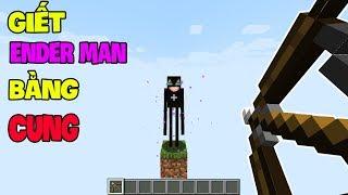 Top 5 Điều Thú Vị Mà Bạn Có Thể Chưa Biết Khi Chơi Minecraft - Giết Ender Man Bằng Cung !!?
