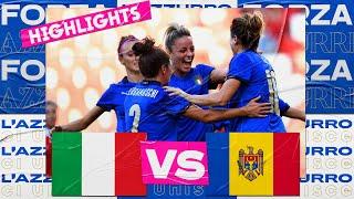 Highlights: Italia-Moldova 3-0 - Femminile (17 settembre 2021)