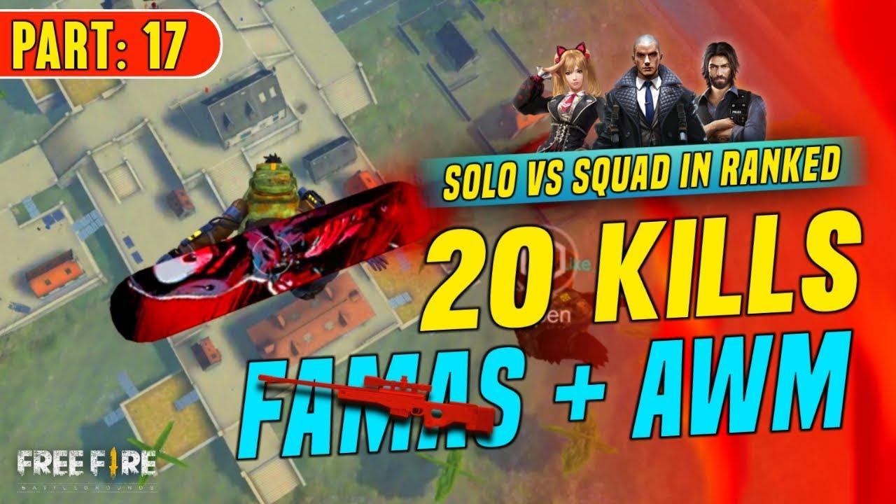 2 Awm Solo Vs Squad 19 Kills Booyah Garena Free Fire Total