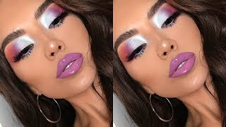 BLOWN OUT COLORFUL METALLIC EYES using Fenty Beauty  | iluvsarahii