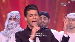 محمد عساف يشعلل مسرح عرب ايدول ويغني للوطن فلسطين Arab idol ...