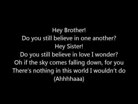 Avicii ~ Hey Brother (Lyrics)