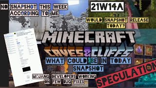 MINECRAFT 1.17 CAVE AND CLIFF UPDATE, SNAPSHOT 21W14A, WOULD IT RELEASE, SPECULATION, FEATURES, ETC.