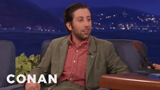 """Simon Helberg On Hugh Grant's """"Panic Sack""""  - CONAN on TBS"""