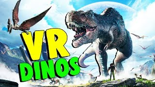 Exploring the Jurassic World and Hatching Baby Dinos! - Ark Park VR - HTC Vive Virtual Reality