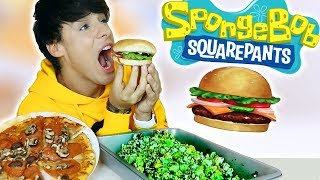 i only ate SPONGEBOB FOODS for 24 hours!!!