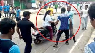 BJD workers attack woman during protest against fuel price..