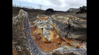 Inside the Mouth of Hawaii Volcano Fissure from Kilauea Eruption in Leilani Estates