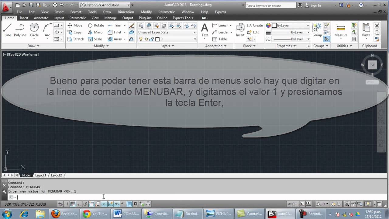 Mostrar Barra De Menús En AutoCAD - Smashpipe Tech Video