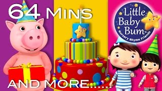 Happy Birthday Song | Plus Lots More Nursery Rhymes | 64 Minutes Compilation from LittleBabyBum!