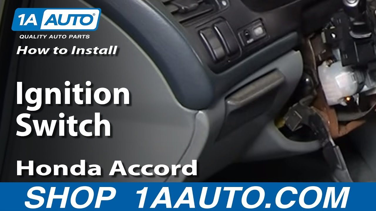 How To Install Replace Ignition Switch Honda Accord