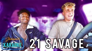 21 Savage Carpool Karaoke WITH Jake Paul