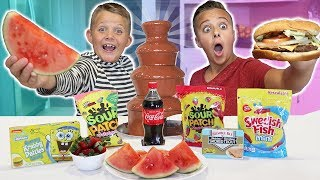 Real Food VS Candy Game!