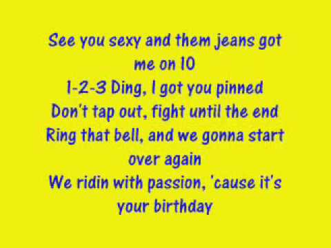 Birthday Sex Lyeics 92
