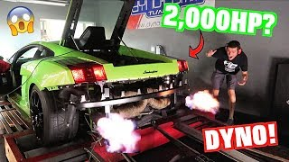 Does Our Twin Turbo Lamborghini Really Make 2,000 HP?! DYNO TIME!
