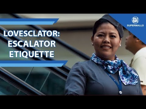 Lovesclator: A sweet reminder for simple escalator etiquette!