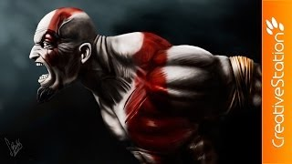 Kratos / God of war – Speed Painting (Photoshop) | CreativeStation