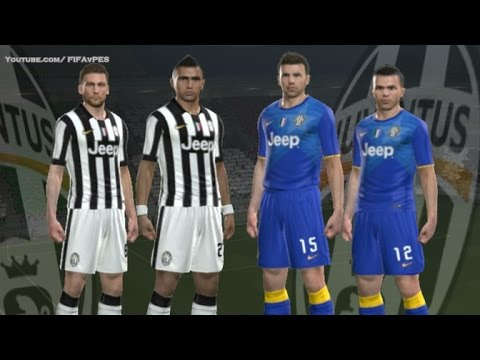 PES 2014 - Juventus New Kits 2014 - 2015 ( Home Away )