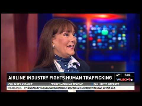 wusa9 7p airlines fight human trafficking 120313