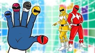 SUPER RANGERS Daddy Finger Nursery Rhyme | Power Rangers Finger Family Song Parody