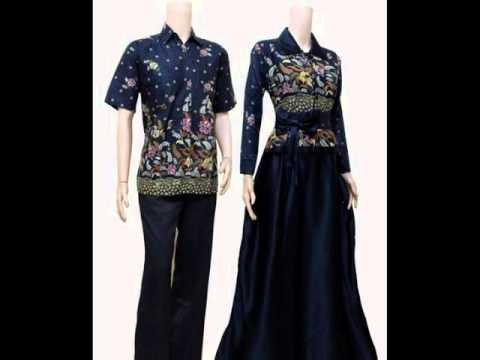 Baju Muslim Gamis Batik Couple Murah Baju Muslim Terbaru 2014