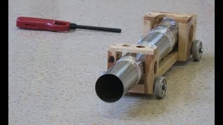 Tennis Ball Cannon-Newton's 3rd law // Homemade Science with Bruce Yeany