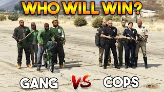 GTA 5 ONLINE : COPS VS GANG (WHO WILL WIN?)
