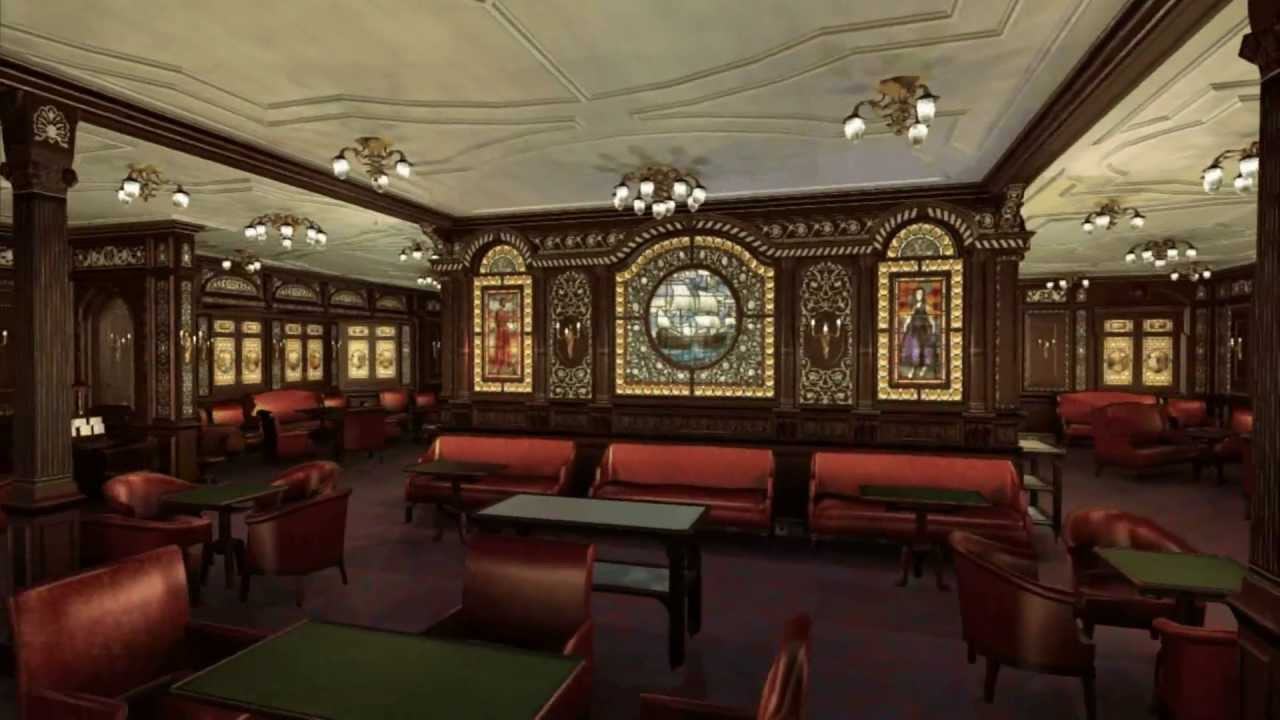 Titanic S First Class Smoke Room A Brief Tour Youtube