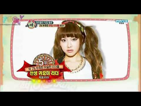 130109 Weekly Idol -- Victoria #5 As Heodang Leader