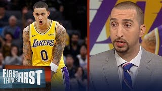 Nick Wright: Kyle Kuzma's development is critical to the Lakers success | NBA | FIRST THINGS FIRST