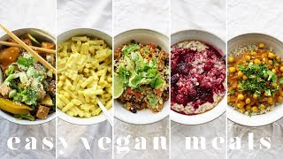MY GO-TO CHEAP & EASY VEGAN MEALS | 5 Lazy, Quick & Healthy Recipes