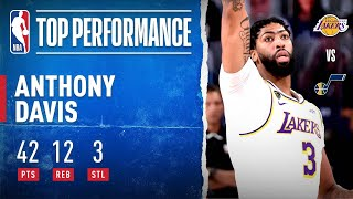 Anthony Davis DOMINATES With 42 PTS, 12 REB & 3 STL To Clinch #1 In The West!