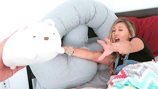 SHE LOVES HER PREGNANCY PiLLOW!