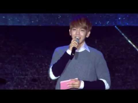 131006 EXO's Baekhyun Singing @ SHINee COMEBACK SPECIAL