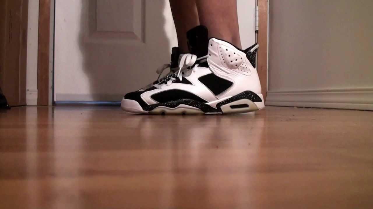 Displaying 20 gt  Images For - Air Jordan 6 Oreo On Feet   Jordan 6 Oreo On Feet