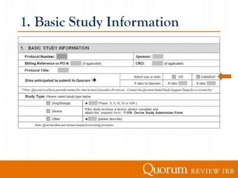 Qutorial: Completing the CSQ (Central Study Questionnaire)