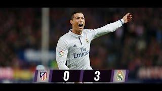 ATLETICO  DE MADRID 0 VS REAL MADRID 3 RESUMEN COMPLETO