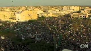CNN's Ivan Watson reports from AzZawiya after Gaddafi destroyed it and brought his thugs in