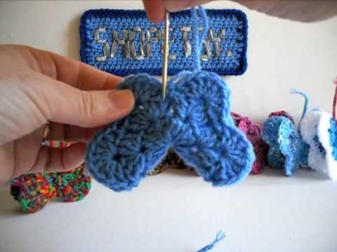crochet butterfly tutorial part 3 youtube