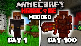 I Spent 100 Days in Modded Minecraft But Everyday I add a NEW MOD