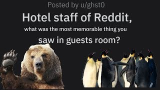r/AskReddit Most memorable things hotel staff found in guests rooms