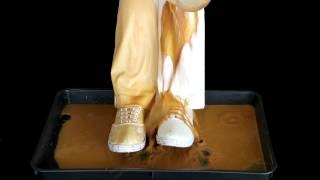 パンツの裾の泥はねも心配なし