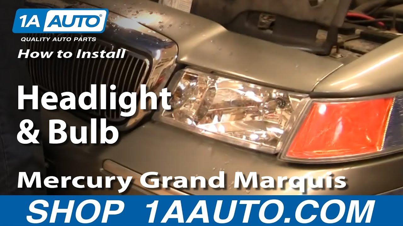 How To Install Replace Headlight And Bulb Mercury Grand