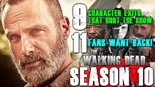 The Walking Dead: 9 Character Exits That Hurt The Show (And 11 Fans Want Back)!