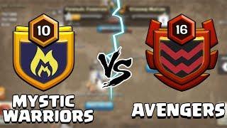 Mystic Warriors vs Avengers | Live Clan War Clash of Clans - COC