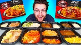 TRYING BOSTON MARKET FROZEN MEALS! - Orange Chicken, Mac N' Cheese, & MORE Taste Test!