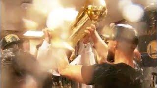 WARRIORS CRAZY CELEBRATION AFTER WINNING 2018 NBA FINALS