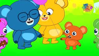 Gummy bear Family flying balloon Children's cartoons & Nursery Rhymes collection
