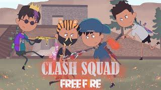 animation free fire - ditantang random player sok jago - clash squad kalahari animasi ff